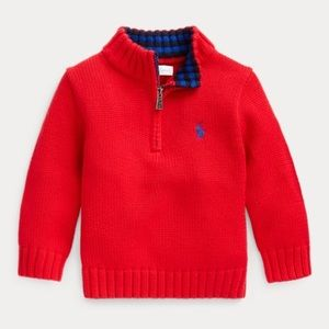 Ralph Lauren baby boy half zip sweater